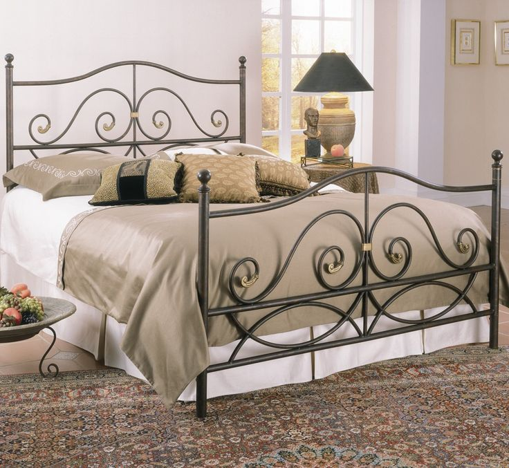 camden iron bed in caramel by largo furniture caramel finish with gold accents durable steel and aluminum twin through king sizes headboard