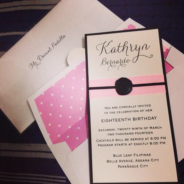 Wordings From Kathryn 18th Birthday Bash Pinterest