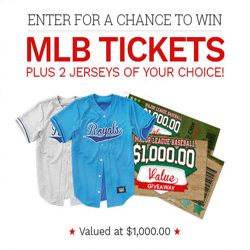 Here's Your Chance To Get MLB Tickets and Jerseys - There is no better way to support your favorite baseball team than to cheer for them in their jerseys. Here's your chance to get MLB tickets to a game and 2 jerseys of your choice. Any MLB team is allowed – Chicago Cubs, Los Angeles Dodgers, New York Yankees or Kansas City Royals.  The whole giveaway is valued at $1,000. No purchase necessary to enter. Go to this page and enter your email to stand a chance to get the giveaway.