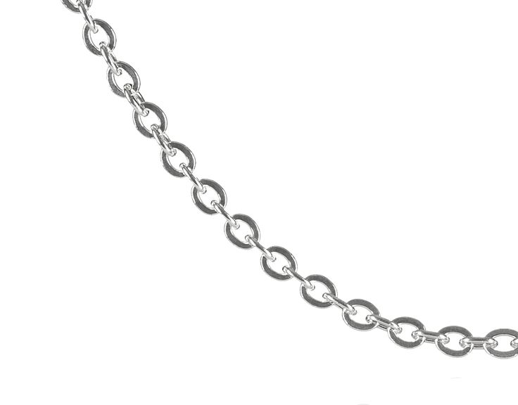The cross chain is our most classic and versatile single loop chain. It is light weight and very easy to pair with pendants.