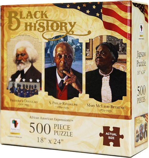 PUZ01 Black History 500-piece puzzle, by African American Expressions