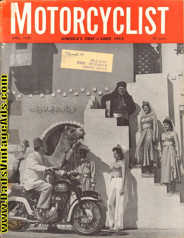 Contents: Araby in California; Daytona Victory to Brad Andres; Arthur Godfrey sees the light - Miami motorcyclists make an enthusiast out of Godfrey; BMW R60 Road Test; Three Decades for Jawa; Artist Dick Finegan impression of a future road racer; Engine of the Monthe - BMW opposed twin cylinder 50
