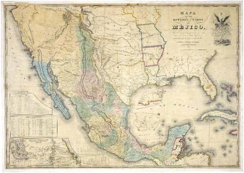 Mapa de México antes de la Guerra de 1846 De 1846, hasta 1848, México y Estados Unidos, se enfrentaron en una guerra cuyo desenlace final, fue la pérdida de una inmensa cant...
