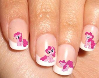 Pinkie Pie My Little Pony Nail Art Water Transfer Decal Water Slide Waterslide Paper Rub On Sticker