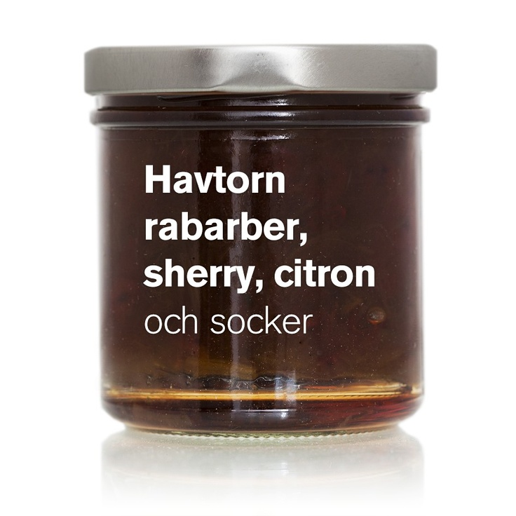 Havtorn, rabarber, sherry, citron (HO 06) via ÄKTA SYLT . Click on the image to see more!