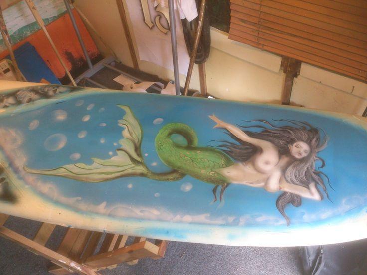 detailing on the Mermaid.