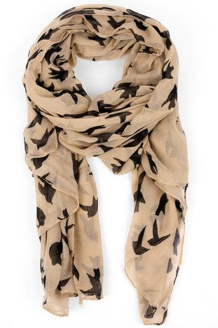 Early Bird Scarf in Latte $13 at www.tobi.com // I love this! Now that I already own 3 spring scarves...