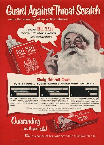 Nothing more American than a Santa smoking!