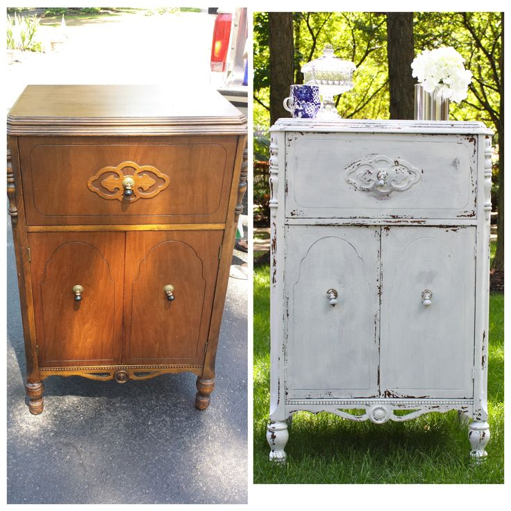 Antique  Vintage  Chippy  Distressed  Shabby Chic  White Radio Cabinet   Bar. 33 best Shabby Chic  Distressed Furniture  DIY  Before Afters  by