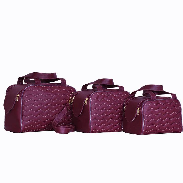 O Conjunto de Bolsas Maternidade Milão Marsala é  super luxuoso! Você vai ter bolsas para todas as ocasiões com esse conjunto pra lá de maravilhoso!