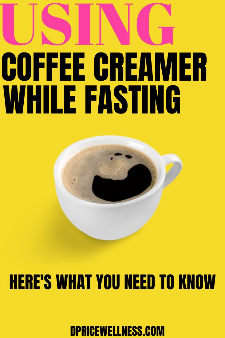 Can i use coffee creamer while intermittent fasting