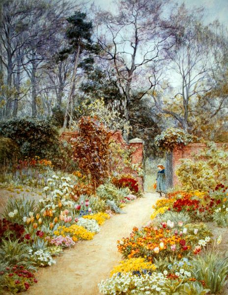 Walled Garden in Springtime, Helen Allingham