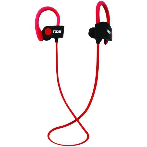 NAXA NE-961 RED PERFORMANCE Bluetooth(R) Wireless Sport Earbuds with Ear Hook (Red)