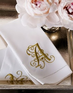 Monogrammed Guest Towel... no powder room is complete without one