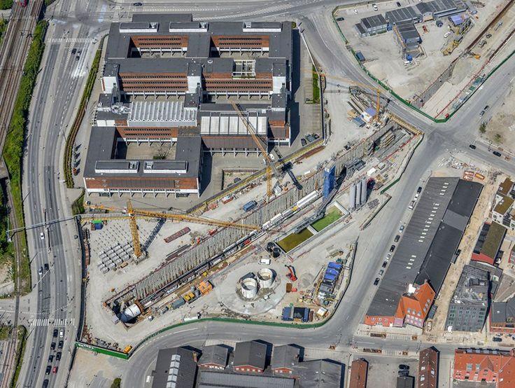Se billederne: Sådan ser metrobyggeriet ud oppefra - Byliv   www.aok.dk