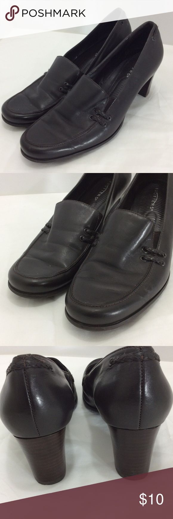 Trotters ladies leather shoes sz 10 US This sale is for excellent used ladies brown shoes. THe size is 10US. Thanks. trotters Shoes