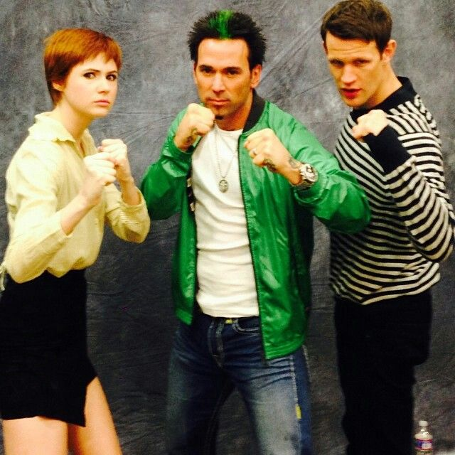 I appreciate the extreme nerdiness of this picture. Doctor who and power rangers.