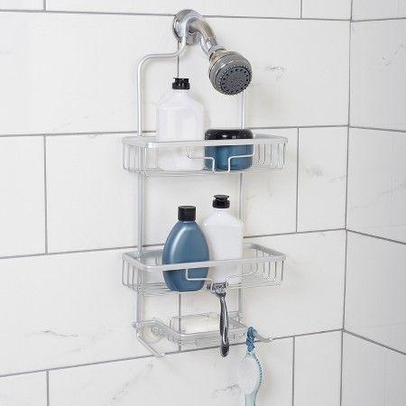 Zenna Home NeverRust Aluminum Shower Caddy   Satin (Large)