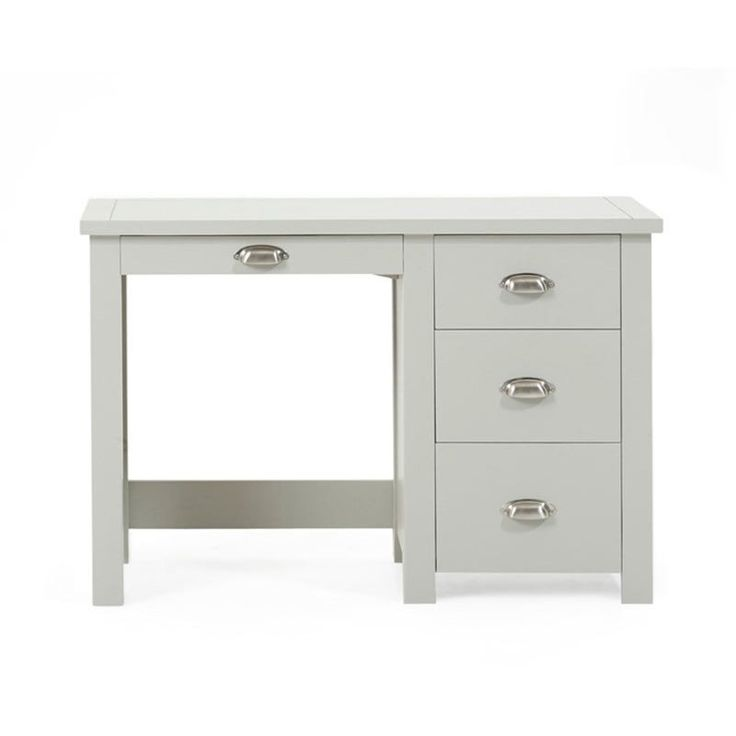 Sandringham Solid Oak Painted Cream/Grey Dressing Table - Grey - Dressing Table - Mark Harris - Space & Shape - 4