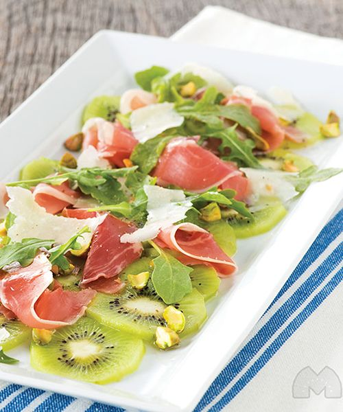 Mighties™ Kiwi Carpaccio recipe - Perfect for casual entertaining, this stunning appetizer with Italian flavors is quick and easy. #Recipe #Appetizer #Kiwi