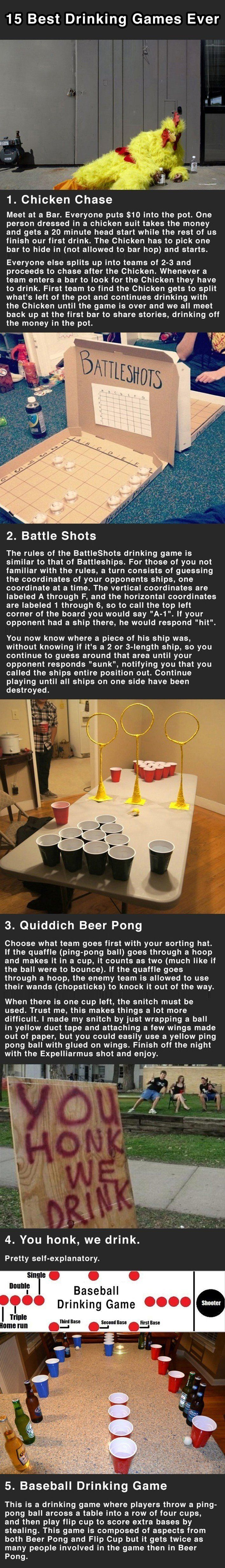 15 Best Drinking Games Ever. Number 7 Is Genius.