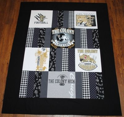 Nice t-shirt quilt idea - Stadium Blanket + Bag/Cushion Combo ~ Tutorial « Sew,Mama,Sew! Blog