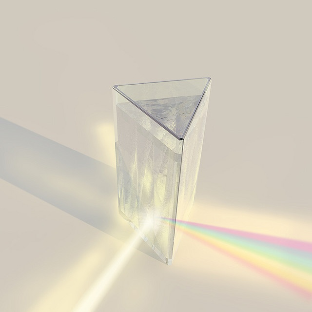 Rainbow Prism Drinking Glasses