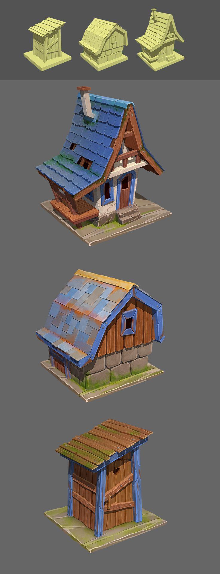 ArtStation - Houses_game_art, Yana Blyzniuk