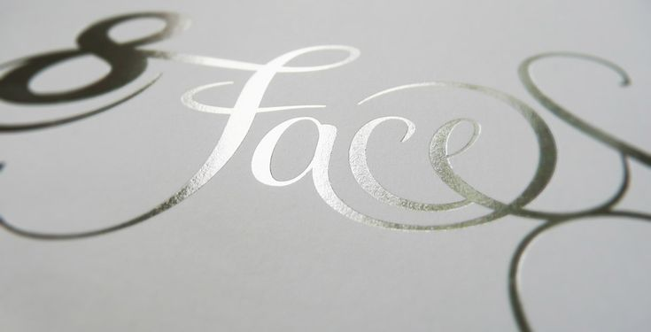 Foil-stamped 8 Faces wordmark from the debut issue (Photo: christophzillgens, Flickr)