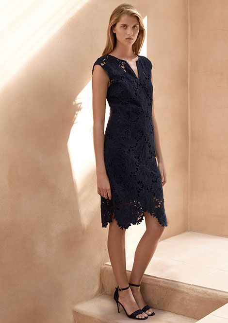 Jigsaw Lace Keyhole Dress