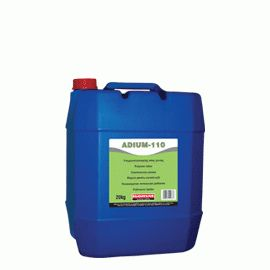 ADIUM 110: Liquid polycarboxylic-based admixture acting as concrete superplasticizer. When added during preparation of concrete, reduces water demand up to 20%. When added to the ready-mixed concrete improves significantly its workability (fluid concrete), without need of additional water.
