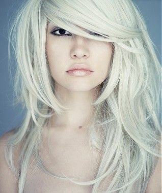 long blonde straight coloured platinum white Womens hairstyles for women