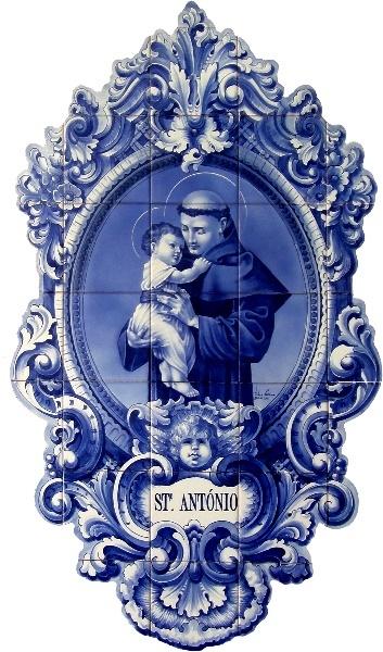 Saint Anthony | Hand-Painted Azulejo Panel - $349