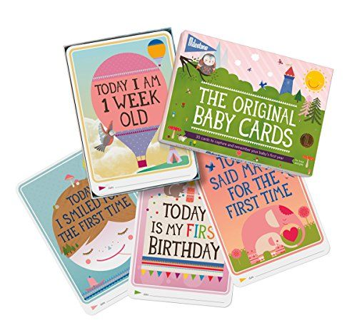 Milestone Baby Cards Gift Set -first Smile, First Steps, First Words & 25 Other Magical Baby Moments MILESTONE Cards