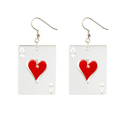 "KiviMeri, ""Hertta"" - The Queen of Hearts, red heart earrings. 