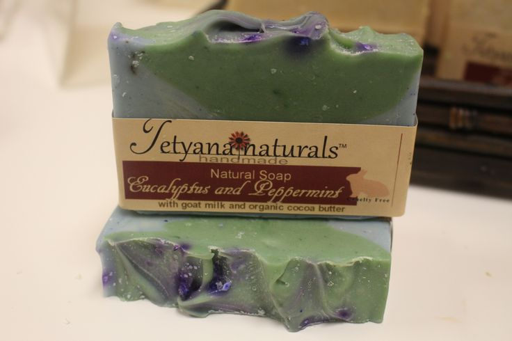 This 100% natural soap bar has very fresh scent. It contains Peppermint and Eucalyptus Essential Oils. Our moisturizing and skin conditioning soaps can be used for hands, body and shaving. Made with 1
