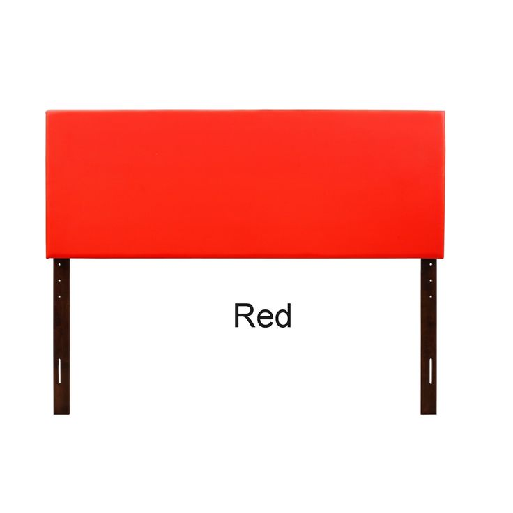 Lyke Home Ava Faux Leather King Headboard (Red - Red Finish)