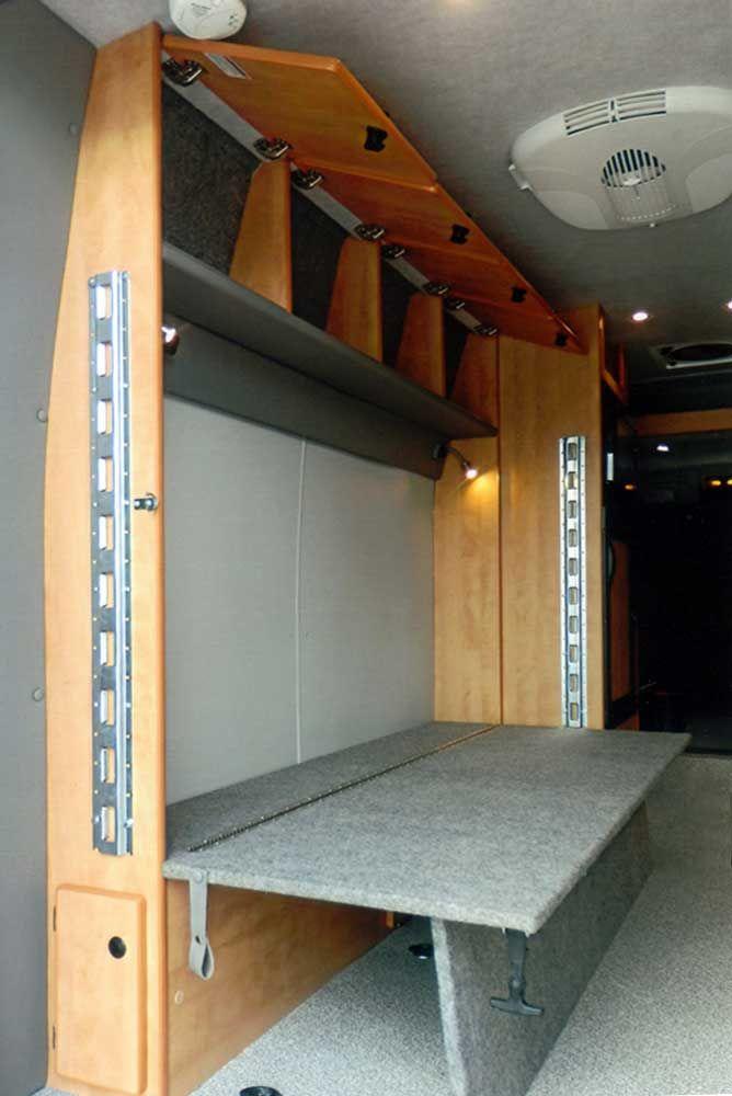 Dan & Alicia's. Sprinter DYO 7 Bunks and Platform Beds - Sportsmobile Custom Camper Vans
