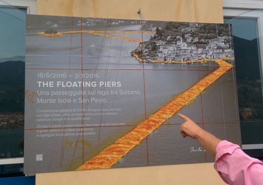 Christo Project The Floating Piers from 18.06. - 03.07.2016 #Christo #TheFloatingPiers - http://www.ferienhaus-iseosee.com/tag/the-floating-piers/