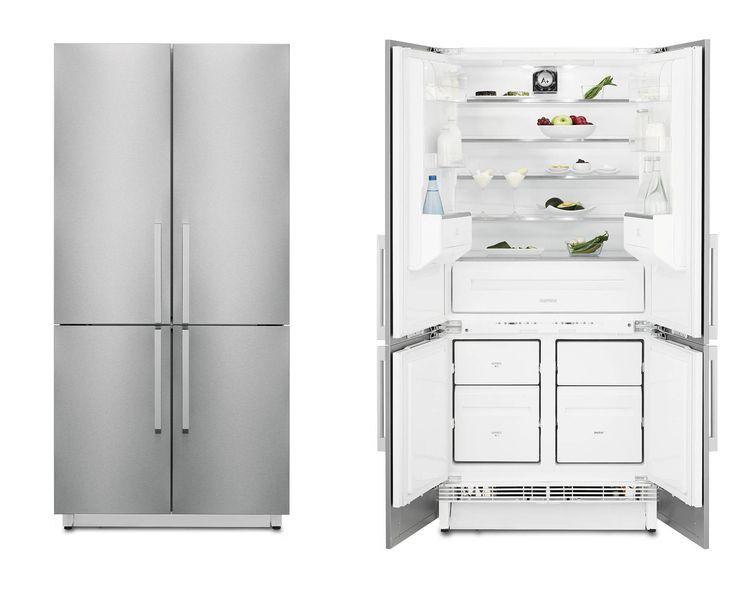 Il frigocongelatore a quattroporte FI5004NXA  di Electrolux Rex è in classe A  e è dotato di sistema di ventilazione che mantiene la temperatura uniforme in tutto il vano con il giusto grado di umidità, per la conservazione ottimale dei cibi freschi. Ha anche la funzione FastFreeze, che riduce la temperatura fino a portarla al livello corretto per congelare gli alimenti freschi prima di tornare in modo automatico all'impostazione standard. Misura L 89 x P 100 x H 190-195 cm. Prezzo da…
