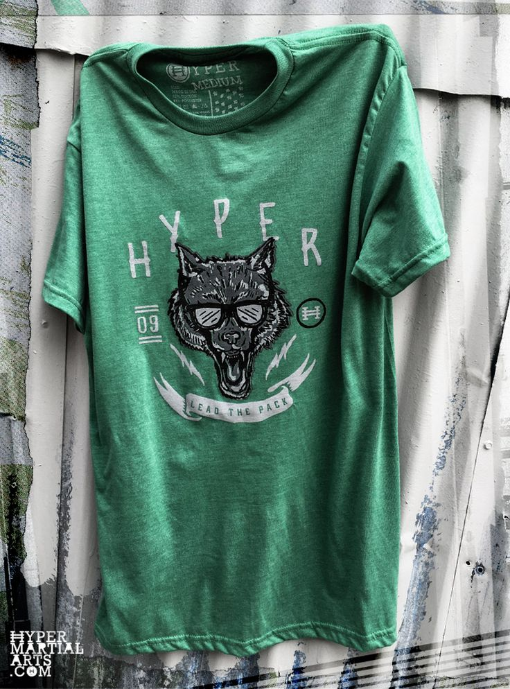 This fun and creative wolf leads the pack in style! Kelly Green Heather . 52% Cotton / 48% Polyester Super Soft . Made in USA