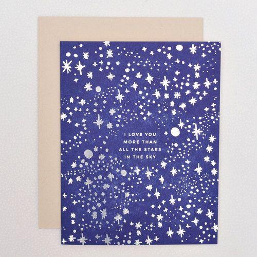 FRIDAY FRENZY | etsyfindoftheday 1 | 2.13.15 'stars in the sky' letterpress card by helloluckypress my new favorite valentine