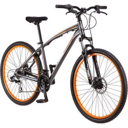 Mongoose Men's 27.5 inch Mongoose Seek'r Mountain Bike, Orange