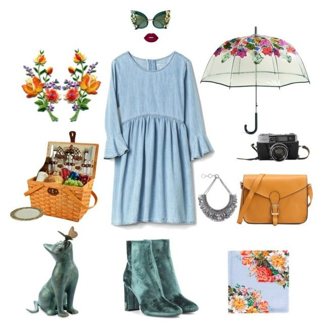 """""""Día primaveral"""" by mariapauladiaz142 on Polyvore featuring Yves Saint Laurent, Vera Bradley, Gucci, Improvements, Picnic at Ascot, Dolce&Gabbana, Forest of Chintz and Lime Crime"""