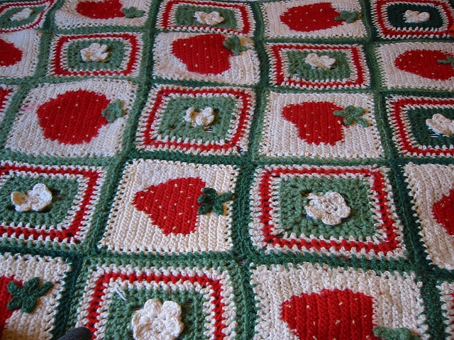 Strawberry Blanket Blanket Crochet Crafts