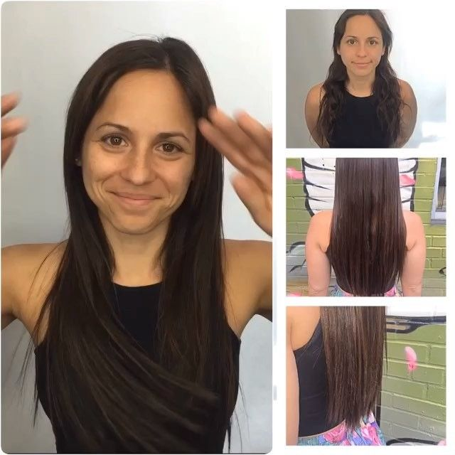Gabi rockin her new extensions! she had length but needed to fill in her fine hair! Keirsta loves doing these types of transformations! Call 404-856-0533 for information or to schedule a consult! We have clip ins and HALO extensions too!!