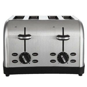Oster 4-Slice Brushed Stainless Steel Toaster:  One of the best, inexpensive toasters of 2016, the Oster 4-Slice Toaster will give you ample room for all your toasting needs. Furthermore, it will give you a simple yet eye-catching interface with which you'll be able to both impress your guests and get the job done without wasting any time.