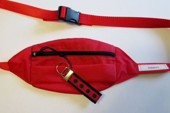 Red Nylon Fanny Pack, Red Bum Bag, Plus Size Fanny Pack, Bright Fanny Pack, Waist Belt Bag, Fashion Fanny Pack, Stylish Fanny Pack,Pouch