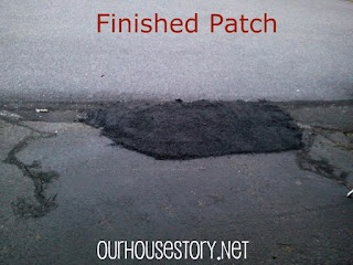 DIY asphalt patch - easy way to fill a hole or level out a driveway