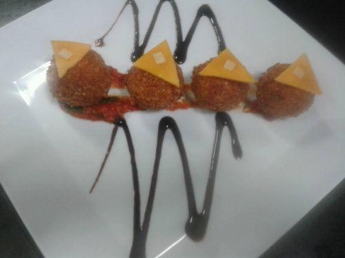 #RajmaChawal Balls with Beetroot Sauce Recipe by Nandini Diwakar on Plattershare